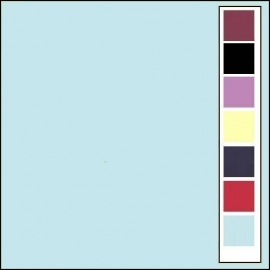 Linnenkarton - Vierkant - Babyblauw  27