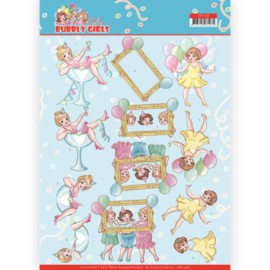 3D cutting sheet - Yvonne Creations - Bubbly Girls - Party - Let's have fun CD11476