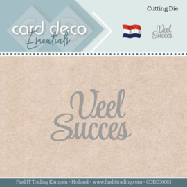 Card Deco Essentials - Dies - Veel Succes  CDECD0063