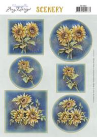 Scenery Push out - Amy Design - Aquarella - Sunflowers  CDS10037