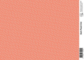Marjoleine dark peach dot