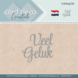 Card Deco Essentials - Dies - Veel Geluk  CDECD0051
