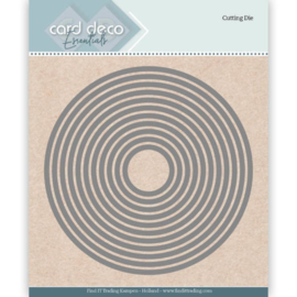 Card Deco Essentials Cutting Dies Round  CDECD0020  Formaat ca. 12 x 12 cm.