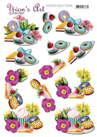 3D Cutting Sheets - Yvon's Art - Donuts CD11545