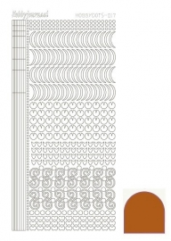 Hobbydots sticker - Mirror Brown 17