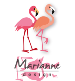COL1456 - Marianne Design Collectable Eline's flamingo  7 pcs; 75 x 53 mm