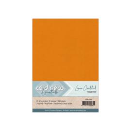 Linen Cardstock - A5 - Tangerine 66