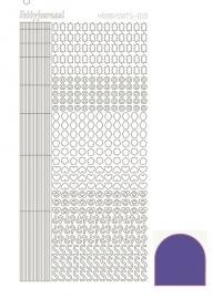 Hobbydots sticker 10 - Mirror - Purple
