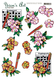 3D Cutting Sheet - Yvon's Art - Crossword Puzzle  CD11652