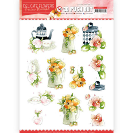3D Push Out - Precious Marieke - Delicate Flowers - Teapot   SB10452