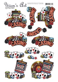 3D Cutting Sheet - Yvon's Art - Casino CD11506