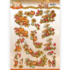 3D Knipvel - Yvonne Creations - Fabulous Fall - Fall Bouquets   CD11154