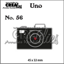 Crealies Uno nr. 56 Camera (klein) CLUno56 45x33mm