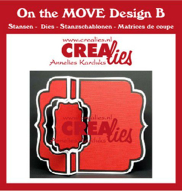 Crealies On The Move Design B Swing along CLMOVE02 13,5x17,5cm