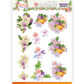 3D Push Out - Jeanine's Art - Exotic Flowers - Purple Flowers SB10572