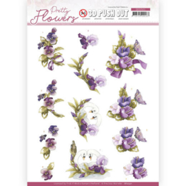 3D Push Out - Precious Marieke - Pretty Flowers - Flowers and Swan SB10501