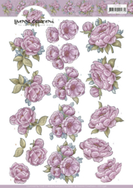 3D Cutting Sheet - Yvonne Creations - Pink Rose CD11598