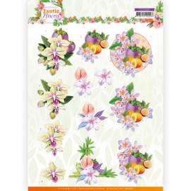 3D cutting sheet - Jeanine's Art - Exotic Flowers - Purple Flowers CD11691