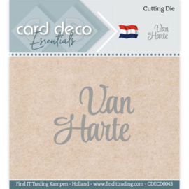 Card Deco Essentials - Cutting Dies - Van Harte CDECD0043