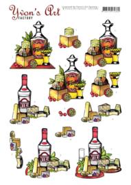 3D Knipvel - Yvon's Art - Tequila and Vodka CD11443