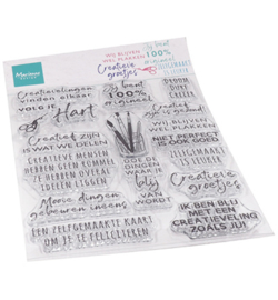 CS1071 - Clear Stamps - Creatieve groetjes