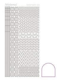 Hobbydots sticker 12- Adhesive - White