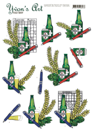 3D Cutting Sheet - Yvon's Art - Swedish Puzzle CD11651