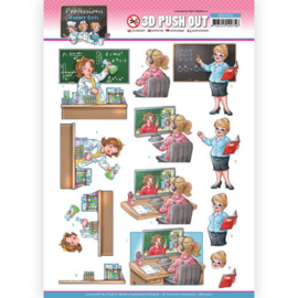 3D Push Out - Yvonne Creations - Bubbly Girls Professions - Teacher SB10550