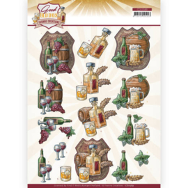 3D cutting sheet - Yvonne Creations - Good old day's - Whiskey CD11589