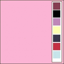 Linnenkarton - Vierkant - Roze  16
