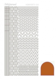 Hobbydots sticker 12 - Mirror - Copper