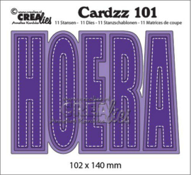 Crealies Cardzz no 101 HOERA (NL) CLCZ101 102x140mm