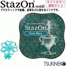 Stazon Midi Teal Bleu