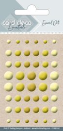 Card Deco Essentials - Enamel Dots Yellow  CDEED007