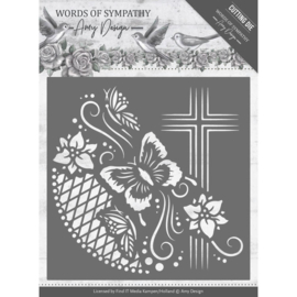 Dies - Amy Design - Words of Sympathy - Cross Frame  ADD10154