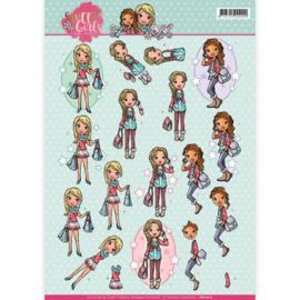 3D knipvel - Yvonne Creations - Sweet girls - My World   CD11012