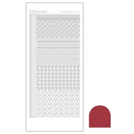 Hobbydots sticker - Mirror Christmas Red  nr.19