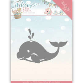 Dies - Yvonne Creations - Welcome Baby - Little Orca   YCD10139
