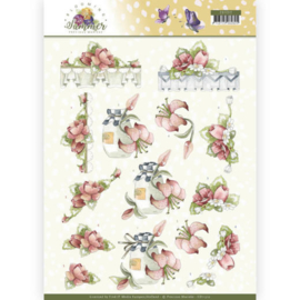 3D Knipvel - Precious Marieke - Blooming Summer - Red Summer Flowers CD11312