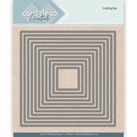 Card Deco Essentials Cutting Dies Square   CDECD0022  Formaat ca. 12 x 12 cm.