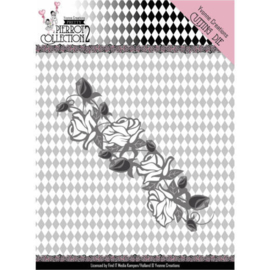 Dies - Yvonne Creations- Pretty Pierrot 2 - Rose Border  YCD10162  Formaat ca.4 x 120 cm