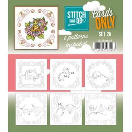 Stitch & Do - Cards only - Set 26
