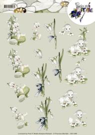 3D Knipvel - Precious Marieke - Snowflowers  CD11098