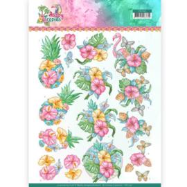 3D Knipvel - Yvonne Creations - Tropical Flowers   CD11331