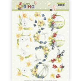 3D Knipvel - Precious Marieke - Happy Spring - Happy Daffodils   CD11264