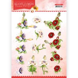 3D Cutting sheet - Precious Marieke - Delicate Flowers - Poppy CD11489