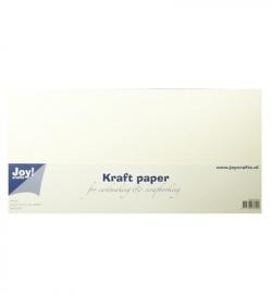 Kraftpapier vierkant  Wit  15x 30.5 cm  10stuks