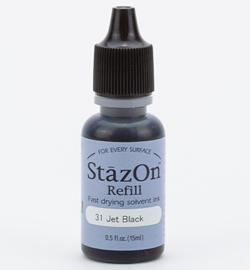 StazOn Inker navulling-Jet Black