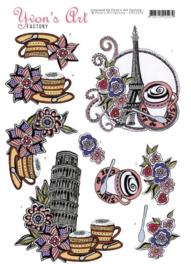 3D knipvel - Yvon's Art Factory - City Trips   CD11019