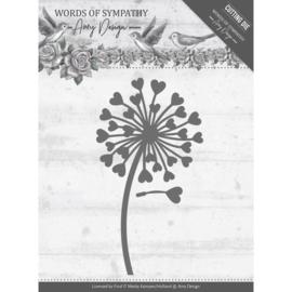 Dies - Amy Design - Words of Sympathy - Sympathy Flower  ADD10155